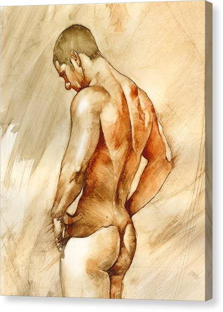 Men Canvas Print - Nude 41 by Chris Lopez