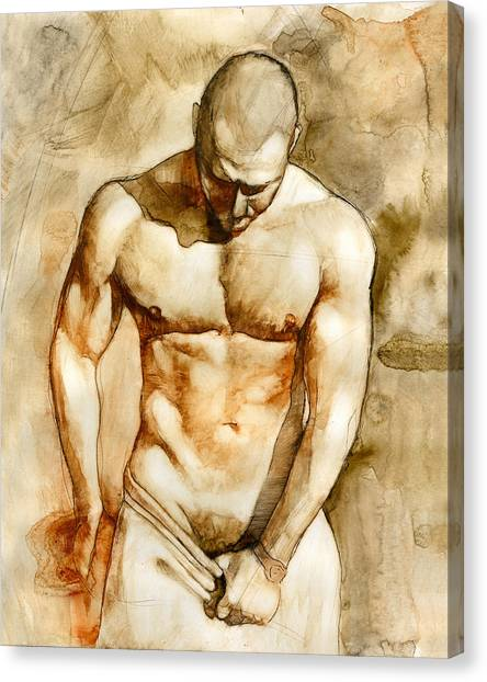 Male Nudes Canvas Print - Nude 43 by Chris Lopez