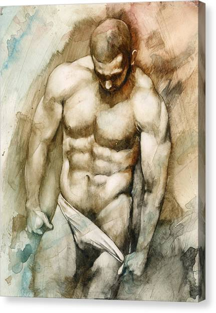 Erotic Canvas Print - Nude 49 by Chris Lopez