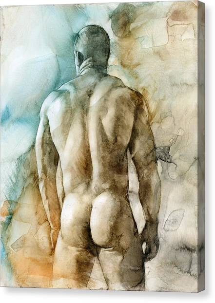 Male Nudes Canvas Print - Nude 51 by Chris Lopez