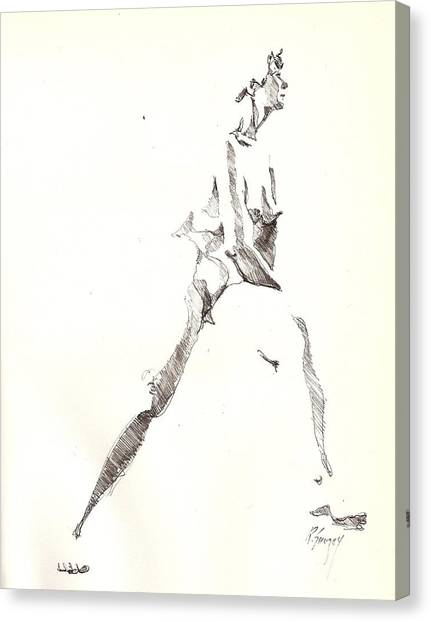 Nude 6 Canvas Print