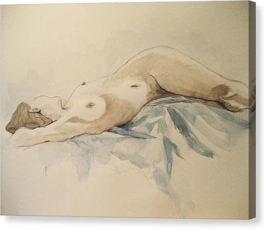 Nude 9 Canvas Print by Victoria Heryet
