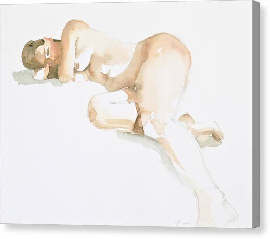 Nude Canvas Print by Eugenia Picado