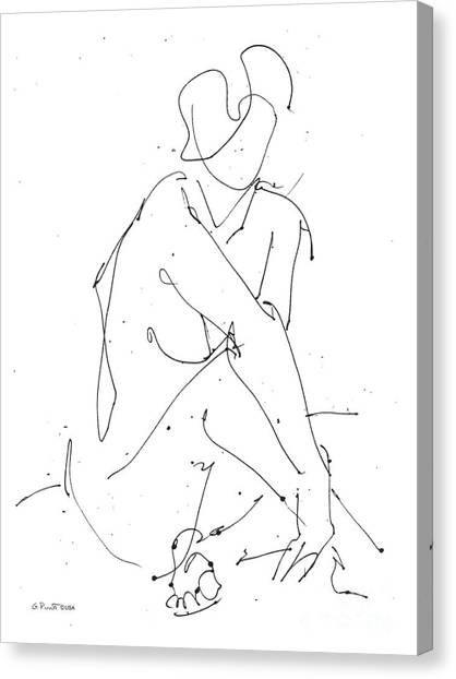 Nude-female-drawing-19 Canvas Print