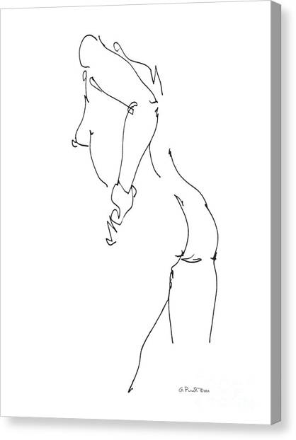 Nude Female Drawings 11 Canvas Print