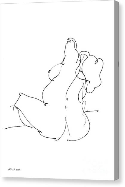 Nude-female-drawings-20 Canvas Print
