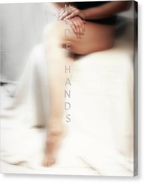 Nude Hands Canvas Print by ManDig Studios
