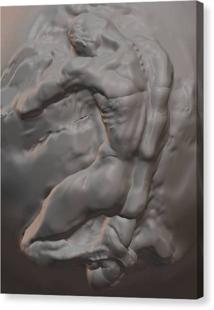 Nude In Marble Canvas Print