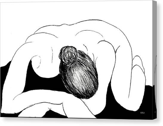 Nude In Supplication Canvas Print