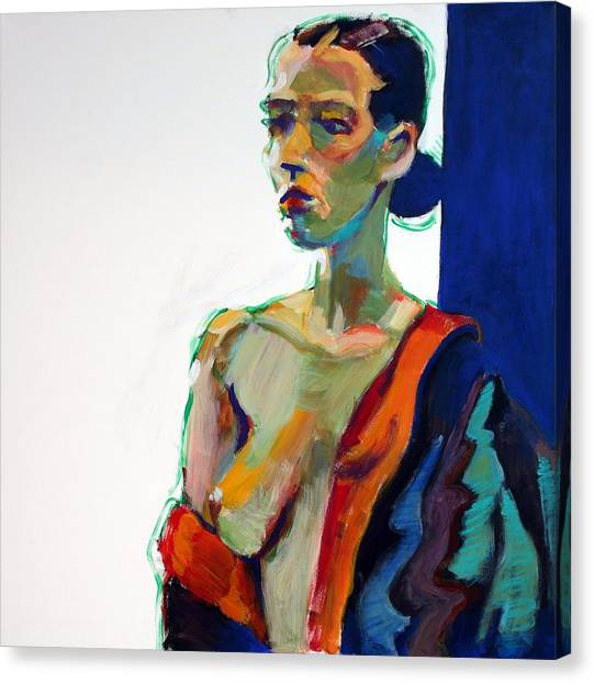 Female Nudes Canvas Print - Nude-j by Piotr Antonow