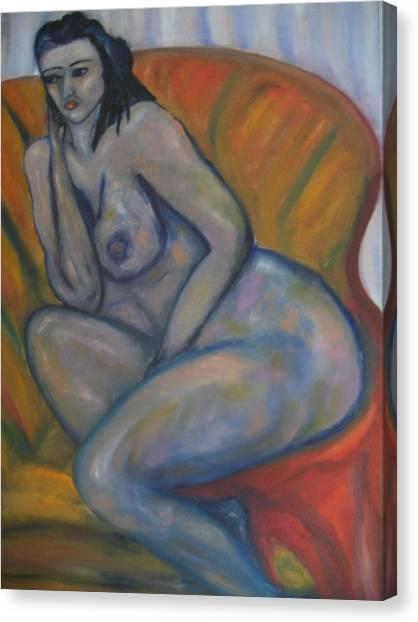 Nude Mood Canvas Print by Maria  Kolucheva