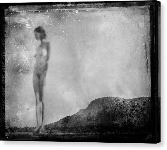 Nude On The Fence, Galisteo Canvas Print