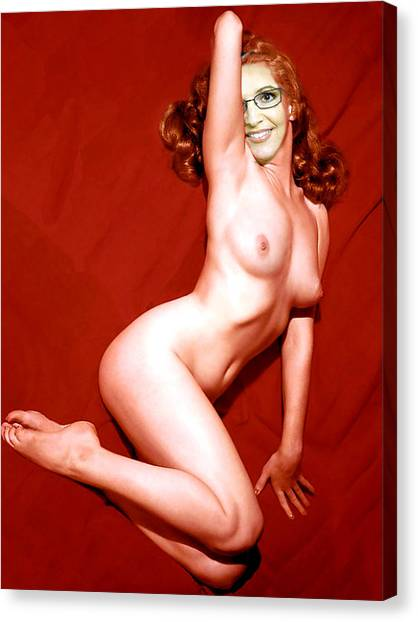 Sarah Palin Canvas Print - Nude Sarah Palin Pinup by Byron Furgol