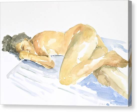 Nudes Canvas Print - Nude Serie by Eugenia Picado