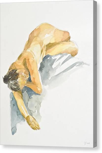 Nude Series Canvas Print by Eugenia Picado