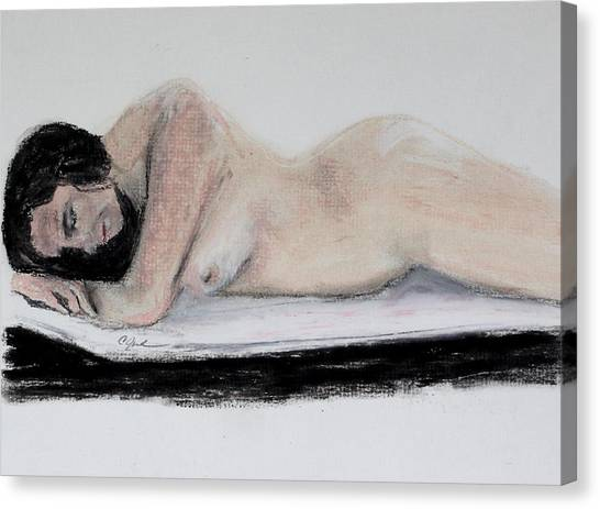 Nude Sleeper Canvas Print