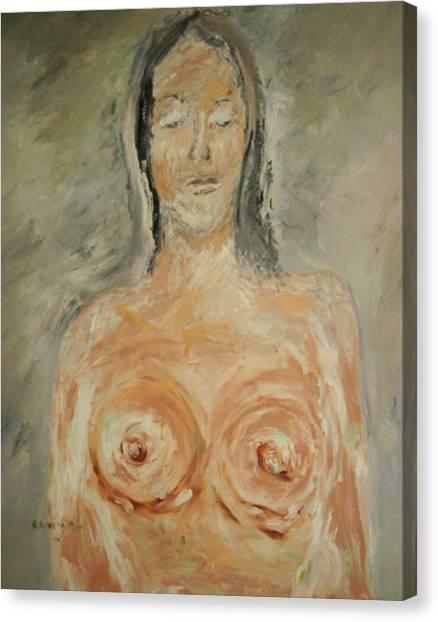 Nude Sleeping Canvas Print by Edward Wolverton