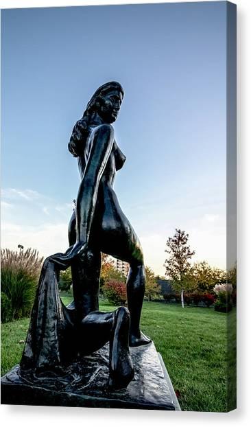Nude Statue Canvas Print