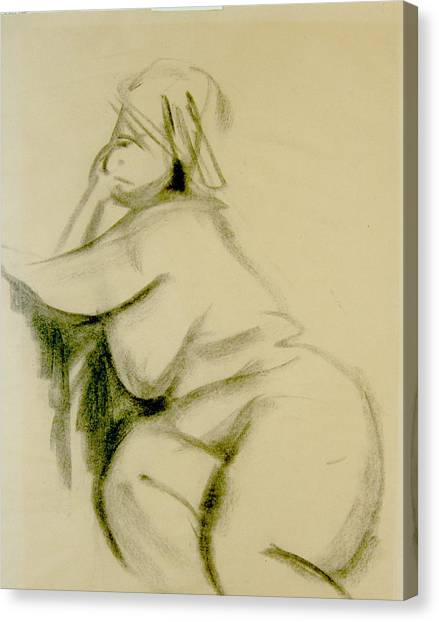 Nude Study Canvas Print by Howard Stroman