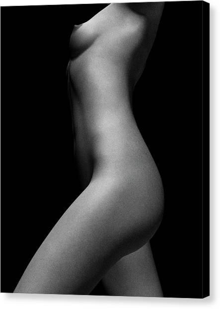 Nude Study Of Jamie No 5 Canvas Print