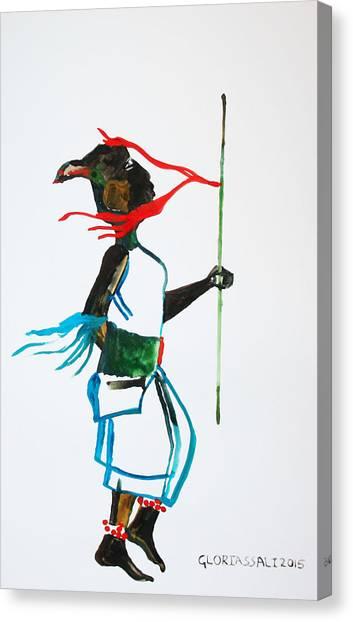 Nuer Dance - South Sudan Canvas Print