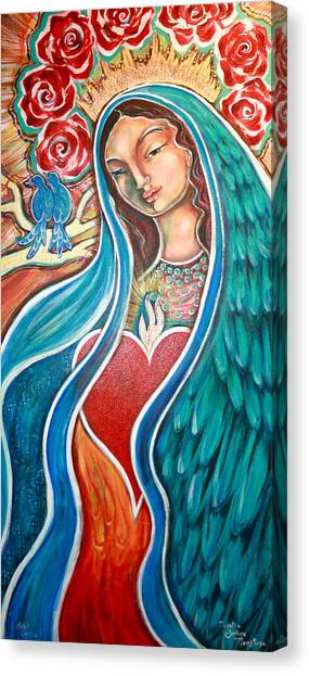 Bluebirds Canvas Print - Nuestra Senora Maestosa by Shiloh Sophia McCloud