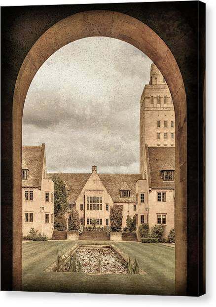 Canvas Print featuring the photograph Oxford, England - Nuffield College by Mark Forte