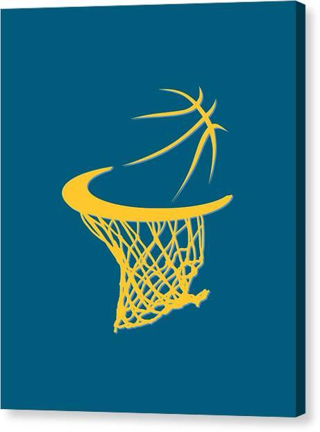 Denver Nuggets Canvas Print - Nuggets Basketball Hoop by Joe Hamilton