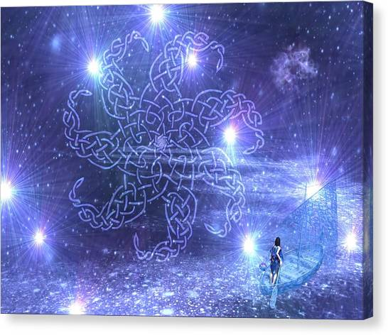 Knotwork Canvas Print - Nuit by Diana Morningstar