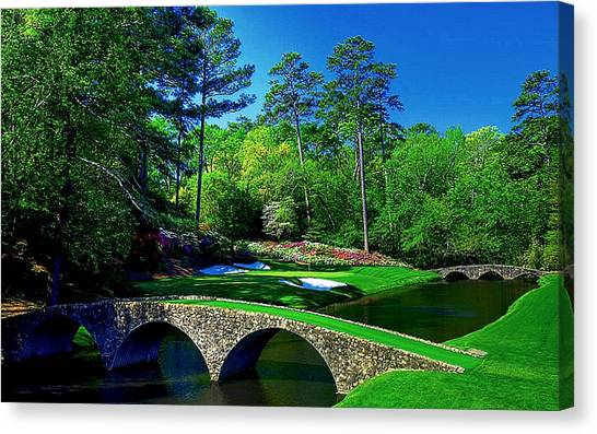 Jack Nicklaus Canvas Print - Number 12 by Michael Graham