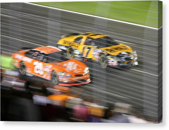 Tony Stewart Canvas Print - Number 20 by Tom Miles