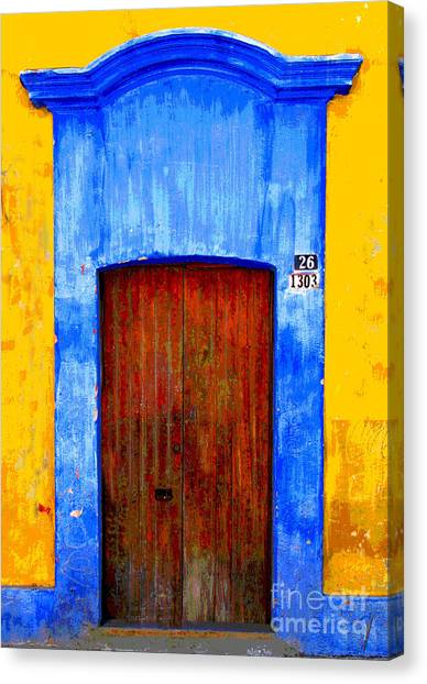 Number 26 By Darian Day Canvas Print by Mexicolors Art Photography