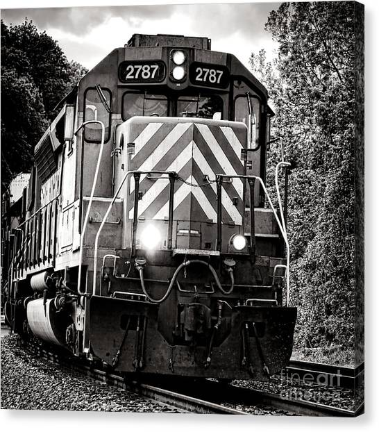Freight Trains Canvas Print - Number 2787 by Olivier Le Queinec