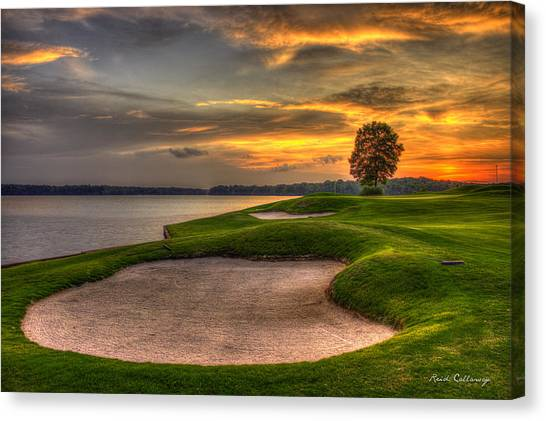 Jack Nicklaus Canvas Print - Number 4 Sunset Traps Reynolds Plantation by Reid Callaway