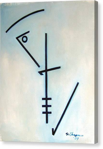 Number Five Blue Monk Canvas Print by Martel Chapman