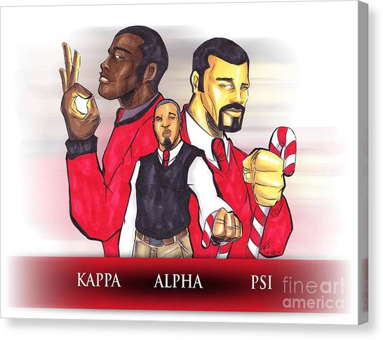 Alpha Kappa Alpha Canvas Print - Nupes R' Us by Tu-Kwon Thomas