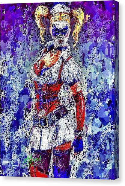 Nurse Harley Quinn Canvas Print