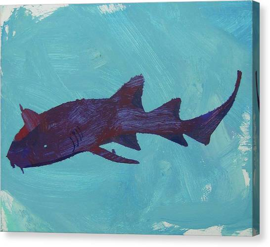 Canvas Print featuring the painting Nurse Shark by Candace Shrope