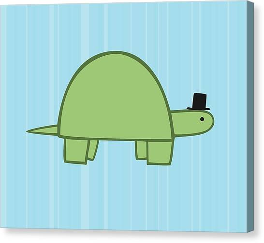 Tortoises Canvas Print - Nursery Art Boy Turtle by Christy Beckwith