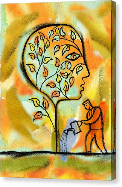 Garden Canvas Print - Nurturing And Caring by Leon Zernitsky