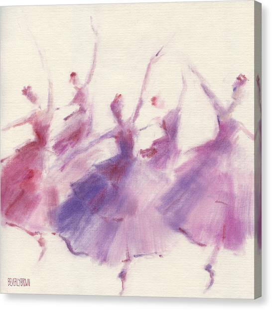 Painters Canvas Print - Nutcracker Ballet Waltz Of The Flowers by Beverly Brown Prints