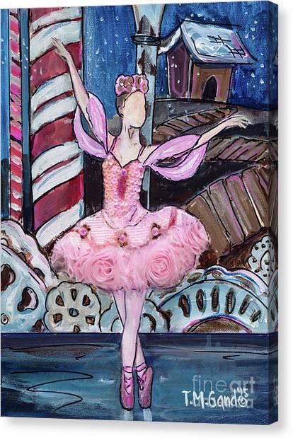 Canvas Print featuring the painting Nutcracker Sugar Plum Fairy by TM Gand