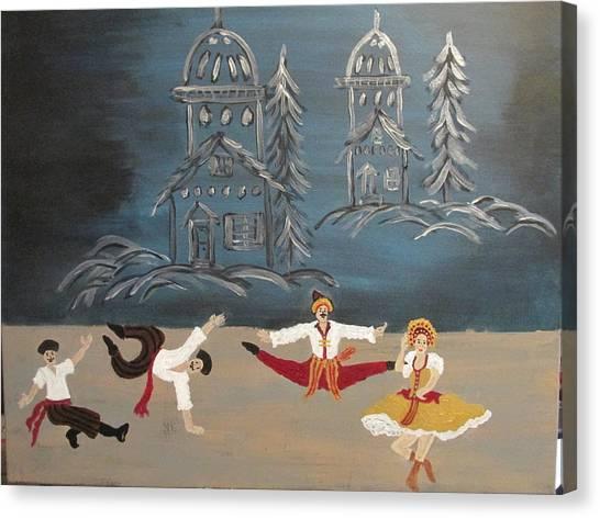 Nutcrackers Dance Of Russian Cossacks Canvas Print