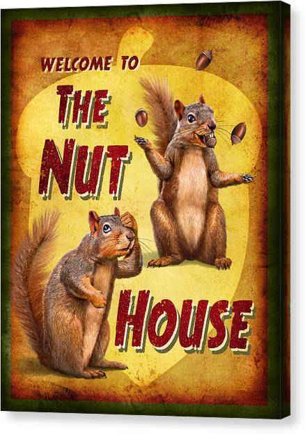 Squirrels Canvas Print - Nuthouse by JQ Licensing