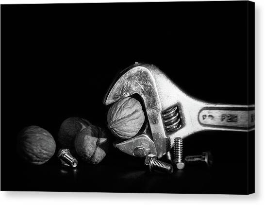 Wrenches Canvas Print - Nuts And Bolts by Tom Mc Nemar