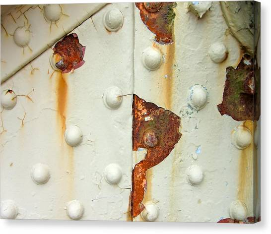 Nuts Bolts And Rust Canvas Print by Richard Mansfield