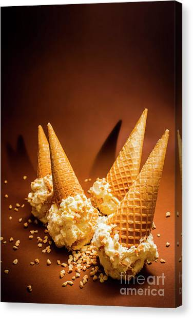 Party Canvas Print - Nuts Over Ice-cream. Birthday Party Background by Jorgo Photography - Wall Art Gallery