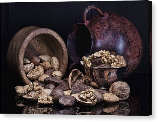 Meat Canvas Print - Nuts by Tom Mc Nemar