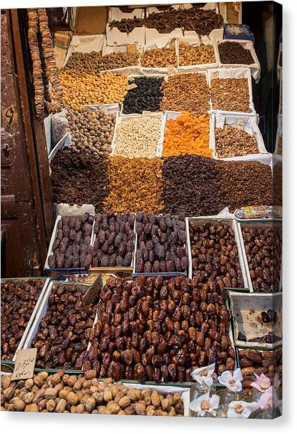 Dried Fruit Canvas Print - Nuts With Dates And Dried Fruit by Panoramic Images