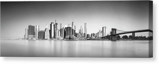 Brooklyn Bridge Canvas Print - Ny Skyline by Ivo Kerssemakers